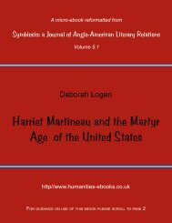 Harriet Martineau and the Martyr Age of the United States