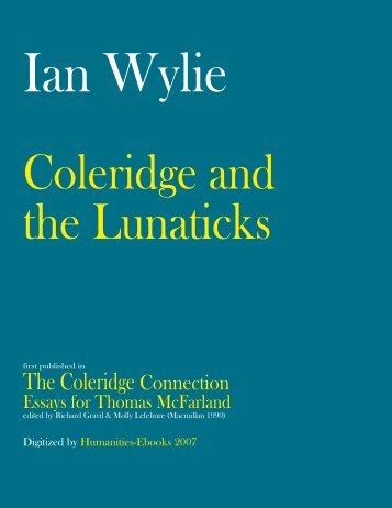 Coleridge and the Lunaticks - Humanities-Ebooks