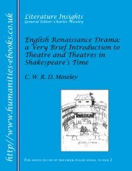 English Renaissance Drama - Humanities-Ebooks