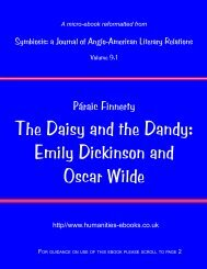 The Daisy and the Dandy - Humanities-Ebooks