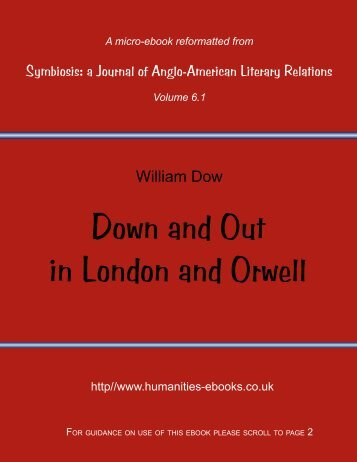 Down and Out in London and Orwell - Humanities-Ebooks
