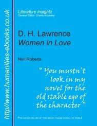 D. H. Lawrence Women in Love - Humanities-Ebooks