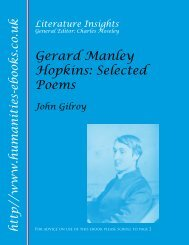 Gerard Manley Hopkins - Humanities-Ebooks