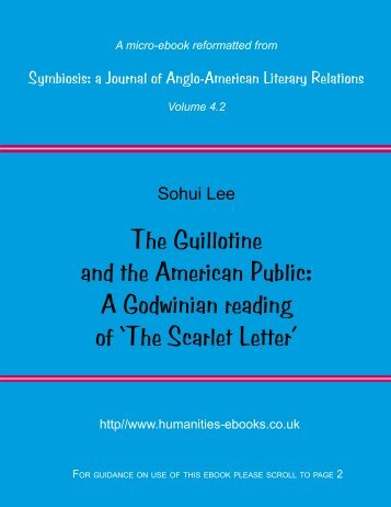A Godwinian reading of The Scarlet Letter - Humanities-Ebooks