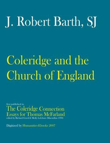 Coleridge and the Church of England - Humanities-Ebooks