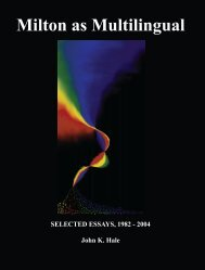 Milton as Multilingual ISBN 978-1-84760-005-9 - Humanities-Ebooks