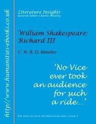 William Shakespeare: Richard III ISBN 978-1-84760-029-5