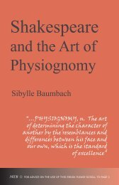 Shakespeare and the Art of Physiognomy - Humanities-Ebooks