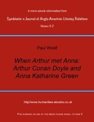 Arthur Conan Doyle and Anna Katharine Green - Humanities-Ebooks
