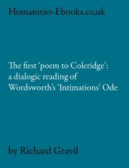 The First 'Poem to Coleridge' - Humanities-Ebooks