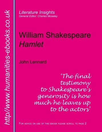 William Shakespeare: Hamlet - Humanities-Ebooks