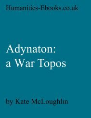 Adynoton: a War Topos - Humanities-Ebooks