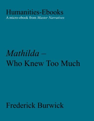 Mathilda - Who Knew Too Much - Humanities-Ebooks