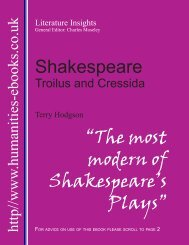 Shakespeare - Humanities-Ebooks