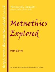 Metaethics Explored - Humanities-Ebooks