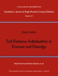 Self-Reliance: Individualism in Emerson and Coleridge - Humanities ...