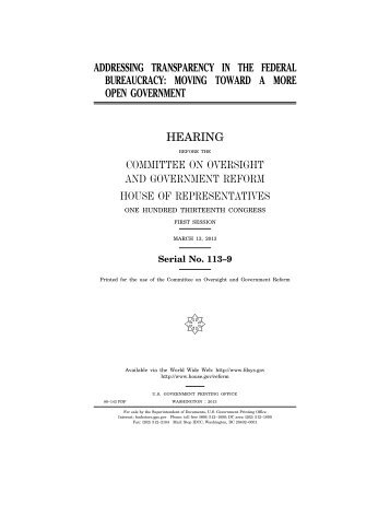 addressing transparency in the federal bureaucracy - Federation of ...