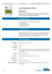 Technisches Datenblatt HD 501 - Bito AG