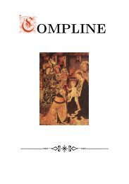 The Sarum Compline for the Octave of Epiphany
