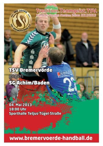 PDF zum Download - TSV Bremervörde Handball