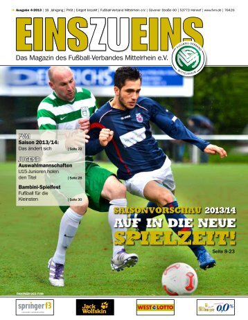 EINSZUEINS 04/2013 - Fußball-Verband Mittelrhein e.V.