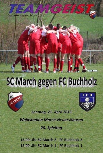 21.04.13 Ausgabe zum Heimspiel gegen FC Buchholz - SC March