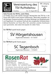 Zeitung vom 15.08.2013 - TSV Au id Hallertau