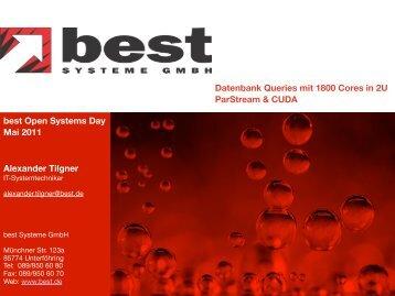 Query Ergebnis Laufzeit - best Systeme Gmbh