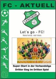 Super-Start in der Verbandsliga Dritter Sieg im ... - FC-47-Leschede