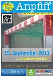Heft 01___15.09.13 - HSG Rhein-Nahe Bingen