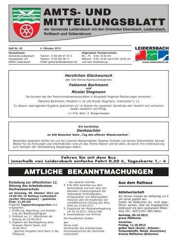 Amts- und Mitteilungsblatt 2013_10_04 - Leidersbach