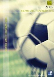 Verlagsvorschau 2012/2013 - Agon Sportverlag