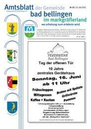 Nr. 23 • 12. Juni 2013 M 21 498 C - Gemeinde Bad Bellingen