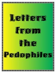 pedophile letters - Child Safety Home Page