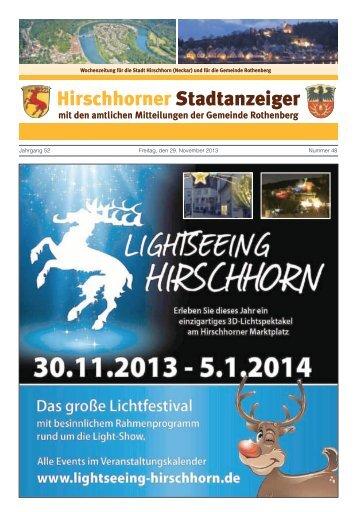 Ausgabe Nr. 48 vom 29. November 2013 - Hirschhorn