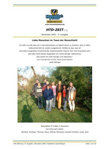 HTD-ZEITung November 2005 - Humanity's Team Deutschland eV