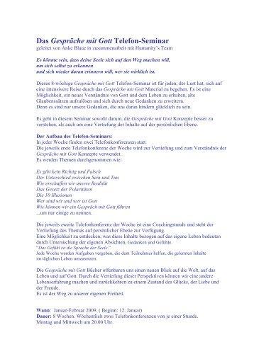 Gesprche mit Gott Telefon-Seminar - Humanity's Team Deutschland ...