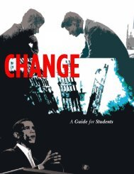 CHANGE A Guide for Students - The Human Race Theatre Company