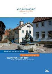 Db-Gescha ftsbericht 2009 db-Gescha ... - Darmsheimer Bank eg