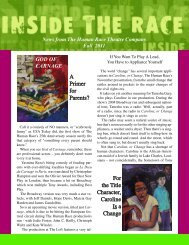 FALL 2011 Newsletter - The Human Race Theatre Company