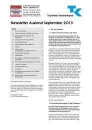 Newsletter Ausland jetzt herunterladen (PDF, 69 KB) - Techniker ...