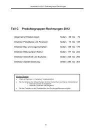 Teil C Produktegruppen-Rechnungen 2012 - Thun