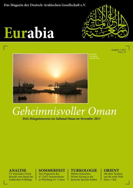 Geheimnisvoller Oman Bei Der Deutsch Arabischen Gesellschaft