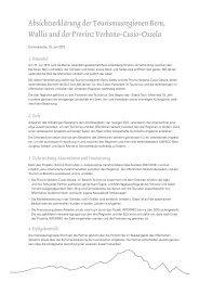 Absichtserklärung der Tourismusregionen Bern, Wallis und ... - BLS