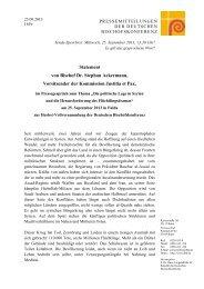 Statement von Bischof Dr. Stephan Ackermann, Vorsitzender der ...