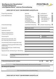 Bewerbungsbogen Lenker