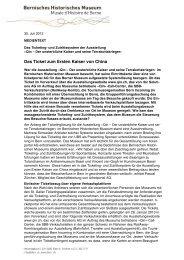Das Ticketing- und Zutrittssystem der Ausstellung - Bernisches ...