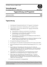 Verwaltungsrat - International Labour Organization