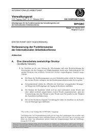 Verbesserung der Funktionsweise der Internationalen ...