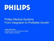 Philips Medical Systems From Integration to Profitable Growth